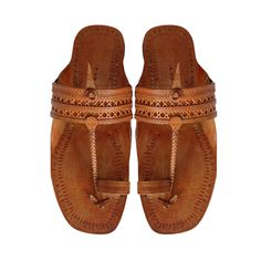 Tan Color Punching Design Authentic Kolhapuri Men Chappal DLC-M-226 by kolhapurichappals on Etsy