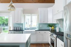 turquoise backsplash | Profile Cabinet and Design