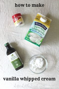How to make Vanilla Whipped Cream: Vanilla whipped cream, also called ...