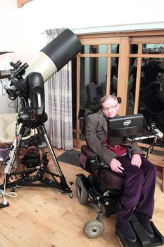 Stephen Hawking gets a Celestron! Astronomy Magazine Interactive Star Charts, Planets, Meteors, Comets, Telescopes is part of Stephen hawking Astronomy com is for anyone who wants to learn more a - Celestron Telescopes, Space Photography, Star Chart, Carl Sagan, Space And Astronomy, Astrophysics, Stephen Hawking, Out Of This World, Science And Nature