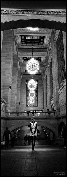 Hasselblad XPan! Black and white film photography Inside Grand Central Terminal, NYC | Using the available light inside the low lit Grand Central Terminal for a portrait with Olly The verticals are not quite straight as the horizontals seem to vary in the image! Hasselblad XPan + 45mm f4, 1/15 or 1/30 handheld + Kodak Eastman Double-X (5222) @800 aka Cinestill BWXX I need to try the XPan with more film stocks. I can't tell if it is the lens or the film that is so sharp!