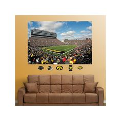 Fathead Iowa Hawkeyes Kinnick Stadium Wall Decals, Multicolor