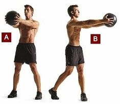 The Total Body Medicine Ball Workout To Burn Fat - GymGuider.com Gym Workout Tips, Fun Workouts, Ball Workouts, Workout Plans, Bola Medicinal, Best Workout Machine, Loose Belly Fat, Russian Twist, Medicine Ball