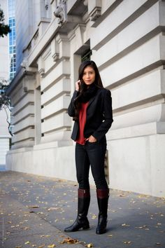 Fall Outfit Series – Casual Riding Boots Outfit