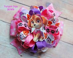 Paw Patrol Skye Hair Bow  Paw Patrol Hair Bow  by LittleBowSwish
