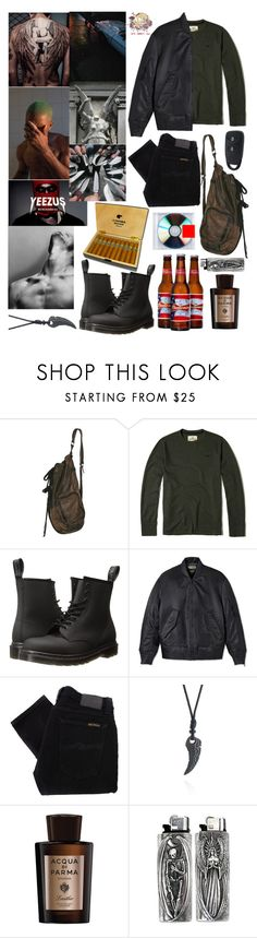 """Untitled #225"" by renad306000 ❤ liked on Polyvore featuring Hollister Co., Dr. Martens, PacSun, adidas Originals, Nudie Jeans Co., Belk & Co., Acqua di Parma, men's fashion and menswear"