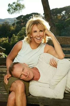 Sting and Trudie in Tuscany
