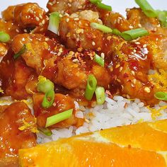 Skip the Chinese takeout. This orange chicken is super easy to make and adds a bright, tangy option to your crockpot repertoire.   Source: Chelsee Bendtsen