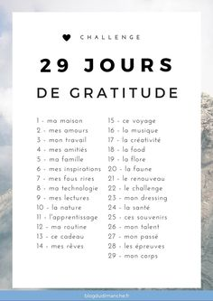 """Un défi """"bonheur"""" de 29 jours pour être plus heureux, plus reconnaissant et se…"""