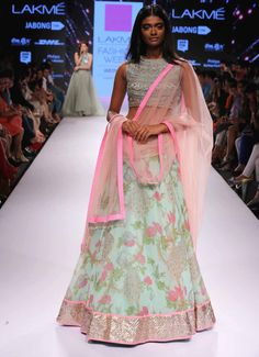tdb-picks-mint-green-and-pink-floral-lehenga-anushree-reddy-at-lakme-fashion-week-summer-resort-2015.jpg (978×1349)