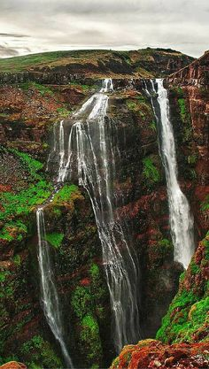 Glymur is Iceland's tallest waterfall coming in at a whopping 650 feet (198…
