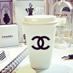 Why wouldn't I drink my coffee out of this...or anything for that matter #Chanel <3 ✦⊱