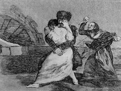 Goya - They don't like it, plate 9 of 'The Disasters of War', 1810-14, pub. 1863 (etching)