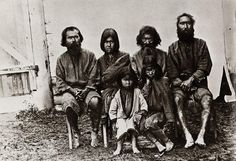 A group of Ainu - an indigenous people who lived in the Northern Island of Japan, Hokkaido and Sakhalin Island. They are now almost extinct.