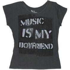 Abbey Dawn Music Boyfriend Oversize Top Junior ($39)..ugh i wld kill a few ppl for this amazingness