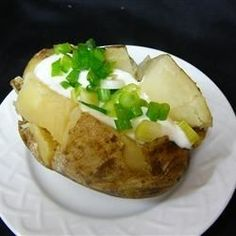 Slow Cooker Baked Potatoes - can cook with foil or without. Cook 1 to 8 potatoes 8 hours on low.  Make sure completely dry after washing.