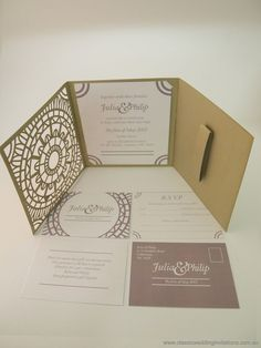 Moroccan Trifold Wedding Invitation Http Www Clicweddinginvitations