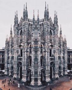 P H O T O   @callicles  L O C A T I O N    Il duomo di Milano è una chiesa monumento simbolo del capoluogo lombardo e uno dei simboli d'Italia dedicato a Santa Maria Nascente situato nell'omonima piazza nel centro della metropoli. Per superficie è la terza chiesa cattolica nel mondo dopo San Pietro in Vaticano e la cattedrale di Siviglia. È la cattedrale dell'arcidiocesi di Milano ed è sede della parrocchia di Santa Tecla nel Duomo di Milano.  A D M I N   @bellerofonte70  @dani80rossi  S E L…