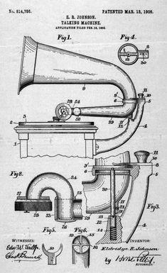 El fonógrafo para discos no manual (con motor) se inventa y patenta en 1906.