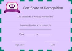 Certificate of Recognition Templates: Best Ideas and Free Samples - Demplates Certificate Of Recognition Template, Certificate Templates, Certificate Of Appreciation, Attendance, Free Samples, Are You The One, Good Things, Ideas, Thoughts