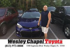 https://flic.kr/p/GGKGDb   Happy Anniversary to Colby on your #Toyota #Corolla from Steve Blank at Wesley Chapel Toyota!   deliverymaxx.com/DealerReviews.aspx?DealerCode=NHPF