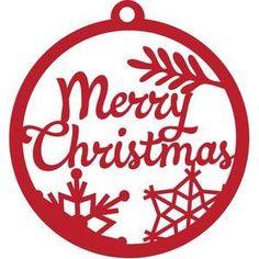 Silhouette Design Store - View Design #103195: merry christmas ornament