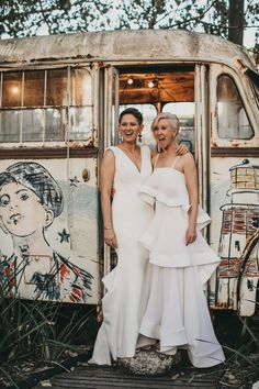 We've put together a crash course in same sex wedding style with inspiration, tips and ideas for styling two brides or two grooms for your big day. Lesbian Wedding, Wedding Couples, Ireland Wedding, Irish Wedding, One Day Bridal, Byron Bay Weddings, Two Brides, Bridesmaid Dresses, Wedding Dresses