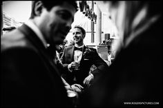 Wedding guests at Roast in Borough Market for the reception -