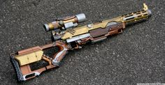 Steampunk Rifle - Outdoors Photo 2 by *JohnsonArms on deviantART