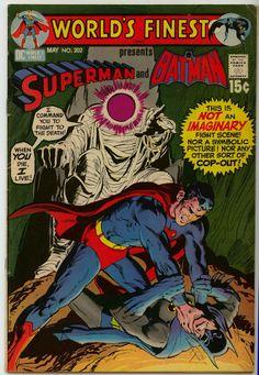 worlds-finest-comic 202 Comic Cover Superman vs Batman