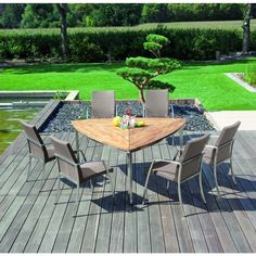"""Edelstahl Gartenmöbel Sitzgruppe """"Rondo / New Orleans"""" - Ihr Online Shop für exklusive Gartenmöbel - #Garten #Moebel ähnliche tolle Projekte und Ideen wie im Bild vorgestellt findest du auch in unserem Magazin . Wir freuen uns auf deinen Besuch. Liebe Grüße"""