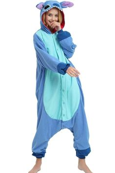 Disney Lilo & Stitch Onesie Kigurumi Pajama Costume For Adults and Teenagers Outfit Ideas For Teen Girls, Cute Teen Outfits, Outfits For Teens, Sunday Outfits, Lilo And Stitch Onesie, Lilo Und Stitch, Onesie For Teens, Pajamas For Teens, Disney Onesies
