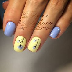 What manicure for what kind of nails? - My Nails Stylish Nails, Trendy Nails, Gel Nails, Nail Polish, Yellow Nails, Purple Nails, Pastel Nails, Manicure E Pedicure, Nagel Gel
