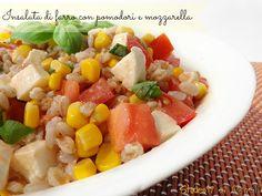 insalata di farro con pomodori e mozzarella ricetta insalata estiva