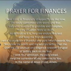 Prayer for finances Prayer For Financial Help, Prayer For Finances, Financial Prayers, Prayer For Guidance, Prayer Scriptures, Bible Prayers, Catholic Prayers, Prayer Quotes, Thankful Prayers