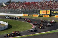 Race Start, Suzuka, 2012  Disaster for Alonso