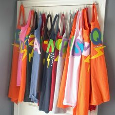 superhero party capes made out of t-shirts!