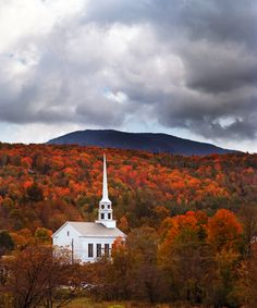 The Most Breathtaking Places to Experience Fall Foliage in the Northeast - Stowe, Vermont from InStyle.com
