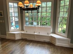 window ideas Banquette Bench for a Bay Window, kitchen seating, shaped bench, breakfast nook Kitchen Storage Bench, Banquette Seating In Kitchen, Banquette Bench, Window Seat Kitchen, Storage Bench Seating, Kitchen Benches, Kitchen With Bay Window, Living Room With Bay Window, Diy Kitchen