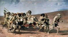 Cormon's painting of Cain and his family being exiled for the killing of Abel