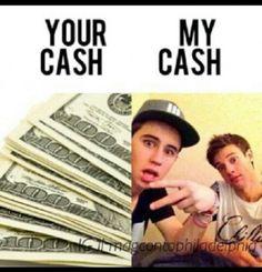 Ur Cash vs my cash @Cameron Daigle Daigle Dallas™ and @cheryl ng Nash Grier