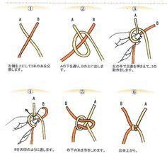 """はた結びの正しい結び方を図解で解説します。ニット糸の結び方は基本的に""""はた結び(はたむすび)""""を使用します。 団子結びや硬結びより結びこぶが小さくなり、目立たなくなる結び方がはた結びです。"""