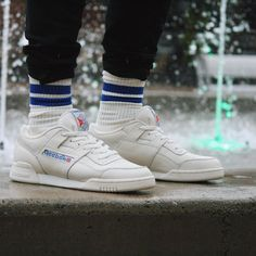 Classic sneakers, reebok workout plus, urban outfitters men, new reebok, sn Me Too Shoes, Men's Shoes, Sneakers Fashion, Fashion Shoes, Reebok Workout Plus, Vintage Sneakers, Classic Sneakers, Sport Fashion, Mens Fashion