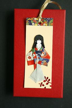washi doll bookmark