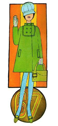 Illustration by Caroline Smith for Petticoat magazine, 1967.