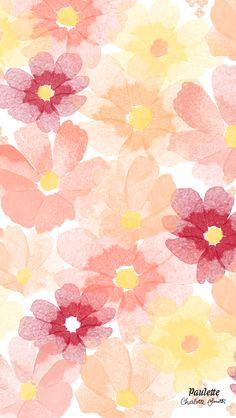 Watercolor Flowers iPhone Wallpaper @PanPins