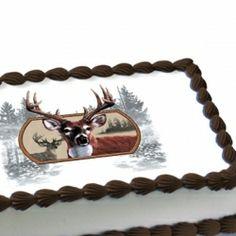 Deer Hunter Edible Image Cake Decoration