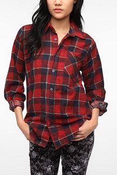 c3e7e4b12bb Urban Renewal Boyfriend Flannel Shirt
