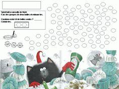 Maternelle: Joyeux Noël, Splat ! exploitation en mathématiques