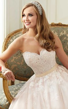 Wedding Dress by Stella York Spring 2016. To see more of our beautiful dresses, follow us! @mycouturebridal